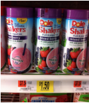 Dole Fruit Shakers Just 50¢ at Walmart!
