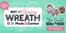 Win $100 In The Best DIY Spring Wreath Photo Contest!