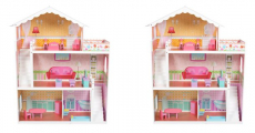 Walmart: Large Children's Wooden Dollhouse with Furniture Only $74.94 Shipped!