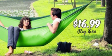 Double Camping Hammock Just $16.99! (Reg $60)