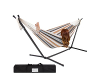 Get A Double Hammock With Steel Stand & Carrying Case For Only $63.94!