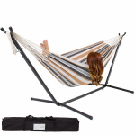 Limited-Time! Double Hammock With Stand Only $54.95!