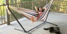 Double Hammock + Steel Stand + Bag Only $45.99 Shipped! (Reg $250)
