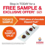 New! FREE Piece of Chocolate Dipped Fruit At Edible Arrangements!