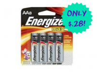 HOT! Energizer Batteries 8 Pack Just 28¢ at Walmart!