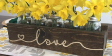 Engraved Mason Jar Centerpiece ONLY $22.99! (Reg $45)