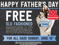 FREE Old-Fashioned Sundae for Dads at Wienerschnitzel