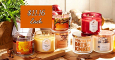 Score Fall 3-Wick Candles Just $11.16/Each Shipped!