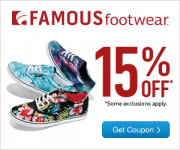 New! Take 15% Off Your Entire Purchase At Famous Footwear!