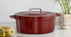 RUN! Martha Stewart Collector's Enameled Cast Iron 6 Qt. Round Casserole Dish Only $39.99 Shipped!