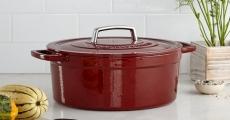 Back Again! Martha Stewart Cast Iron 6 Qt. Round Casserole Dish Only $39.99!