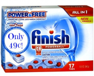 HOT! Finish Dishwasher Tabs Only 49¢ at Meijer!
