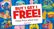 Buy 1 Fisher-Price Toy, Get 1 Free ($24.99 value)  + High Value Coupons Re-set!!!