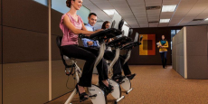 FitDesk 2.0 Desk Exercise Bike with Massage Bar $100 Off + Free Shipping!