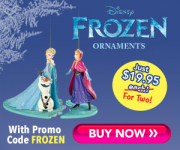 Disney's Frozen Collectable Christmas Ornament Only $9.97!