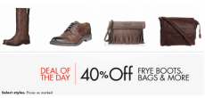Get 40% Off Frye Boots, Bags, and More!