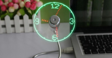 Creative Mini USB Fan with LED Clock Display Just $5.29 Shipped!