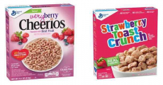 General Mills Very Berry Cheerios & Strawberry Toast Crunch Cereal Just $0.75/Each!
