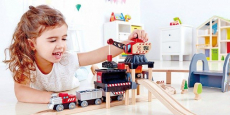 Hape Kids' Wooden Railway Working On The Railroad Set Just $40.04 Shipped!