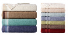 Home Expressions Stripe & Solid Bath Towels Just $3.49/Each At JC Penney!
