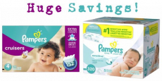 Pampers Diapers 152ct Box + Baby Wipes 320ct Box Just $33.21 Shipped!!!