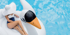 Intex Giant White Mega Swan Inflatable Pool Toy ONLY $20.99 Shipped! (Reg $80)