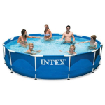 Wow! Intex 12ft X 30in Metal Frame Pool Set Only $95.98! Normally $180.00!