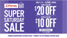 JC Penney: Get $10 Off $25 OR $20 Off $50 With Promo Code!