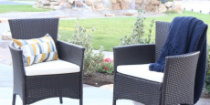 2-Pack Outdoor Patio Rattan Chairs + Cushions Only $49.99/Each Shipped!