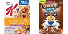 Kellogg's Frosted Flakes & Special K Cereal As Low As $0.95!