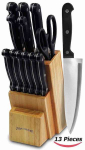 Amazon: Knife Set + Wooden Block 13 Piece Only $24.91! Normally $99.99!