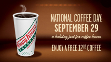 FREE Coffee on National Coffee Day (Dunkin Donuts, Krispy Kreme, McDonald's and More!)
