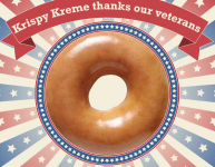 Free Doughnut and Coffee at Krispy Kreme for Military and Veterans
