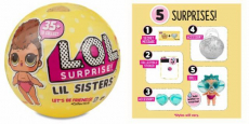 L.O.L. Surprise! Lil Sisters Series 3-1 ONLY $6.88!
