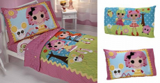 Best Price! Lalaloopsy Sew Cute 4-Piece Toddler Bedding Set Only $13.70!