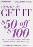 Lane Bryant $50 off $100 Coupon Code + More (Today Only)