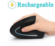 50% Off on Lekvey Ergonomic Vertical Rechargeable Wireless Mouse