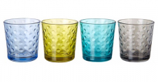 Libbey Awa Cool Color 4-pc. Rocks Glass Set Just $2.58!