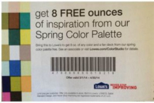 Free 8 oz Paint at Lowe's‏?!
