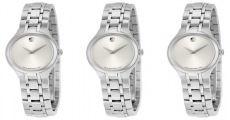 Enter For A Chance To Win A MOVADO Silver Dial Stainless Steel Ladies Watch!