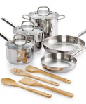 Macy's: Martha Stewart Collection 12-Pc. Stainless Steel Cookware Set Only $58.99! Normally $179.99!