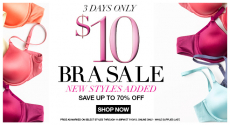 Maidenform: $10 Bra Sale + 15% off Coupon and FREE Shipping- Last Day!