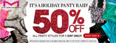 Maidenform Panty Raid Sale: 50% off ALL Panty Styles- Today Only