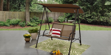 Mainstays Two-Person Canopy Porch Swing ONLY$45.00! (Reg $90)