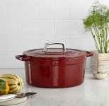 Macy's: Martha Stewart Collector's Enameled Cast Iron 6 Qt. Round Casserole For Only $29.99!