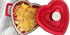 Cast Iron 2-Qt. Heart-Shaped Casserole Only $29.99! REG $100!