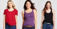 Score Merona Tanks & Tees On Sale For Just $5.00/Each At Target!