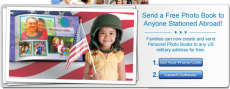 FREE 5X7 Photo Book to Military Address + FREE Shipping!
