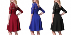 50% Off Women's Vintage Floral Lace Cocktail Party Dresses!