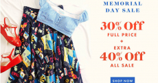 MODCLOTH Memorial Day SALE-BRATION 30% Off + 40% Off